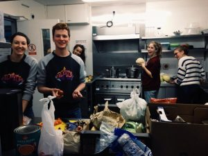 CCA Volunteers prepping food for one of our Saturday Community Meals