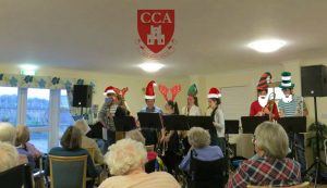 Castle Big Band performing at St. Margaret's Care Home last Christmas