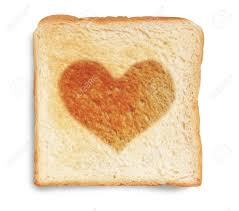 toast with a heart